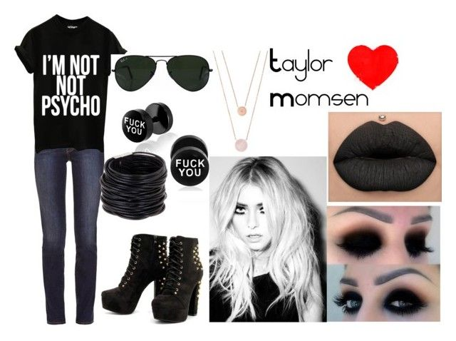 """Taylor Momsen"" by gimmemyfreedom on Polyvore featuring moda, Tory Burch, Ray-Ban, Saachi e Michael Kors"