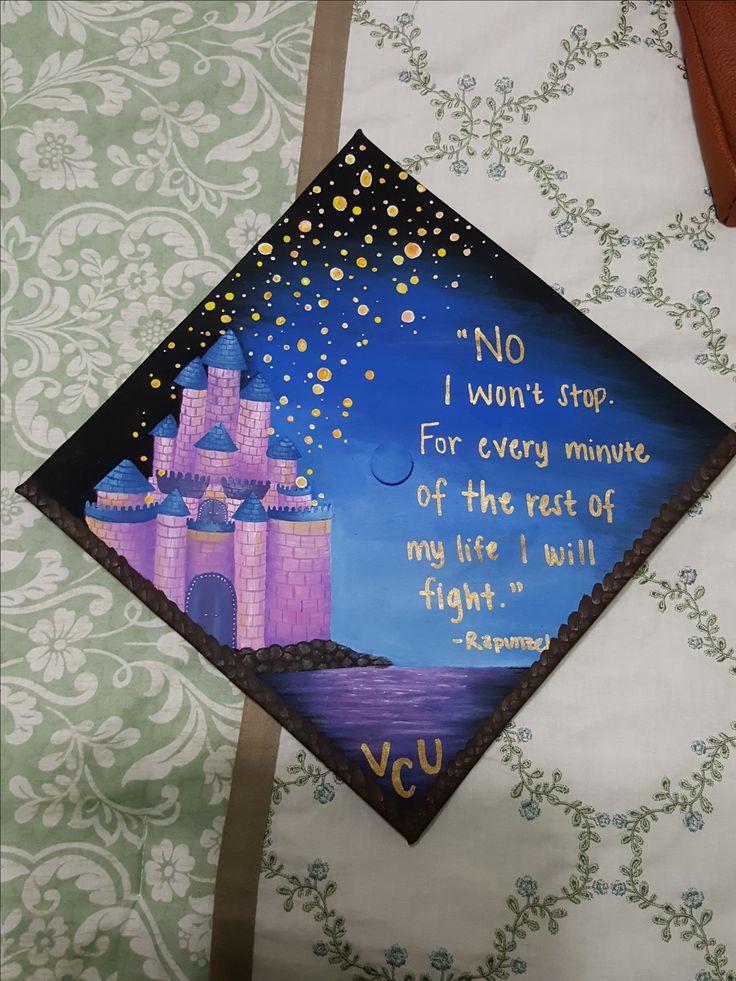 Graduation Cap Decoration, Disney, Tangled, Rapunzel