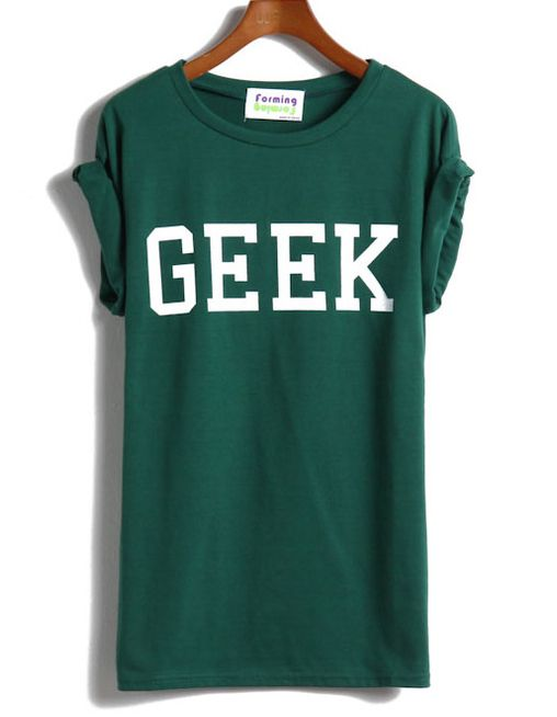 Shop Green Short Sleeve GEEK Print T-shirt online. Sheinside offers Green Short Sleeve GEEK Print T-shirt & more to fit your fashionable needs. Free Shipping Worldwide!