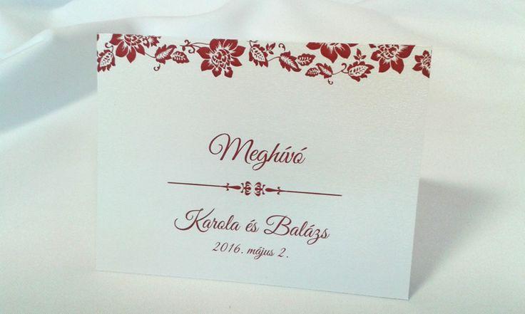 egyedi grafikus esküvői meghívó 081.1