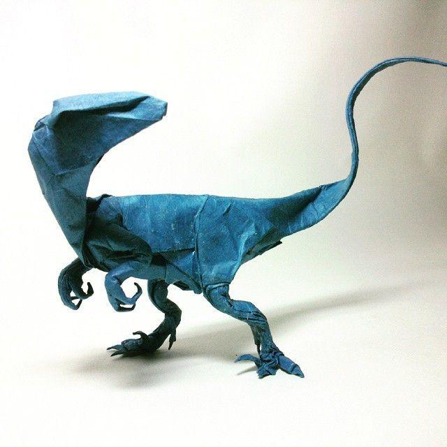 Fabulous paper sculpture velociraptor | Dinosaur Girl ...