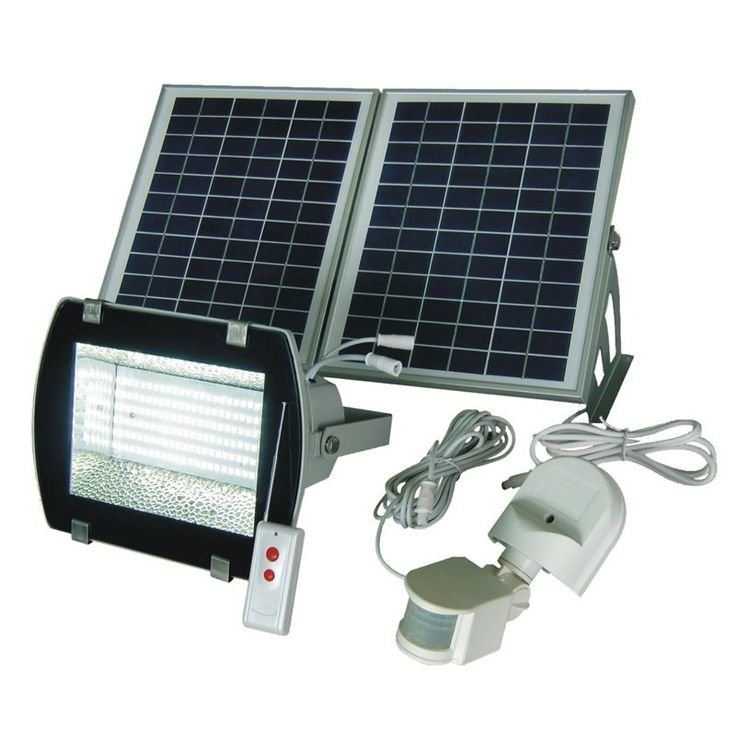 Solar Goes Green SGG-F156-2R Super Bright 156 SMDs Solar Powered Flood Light with Remote Control - SGG-F156-2R