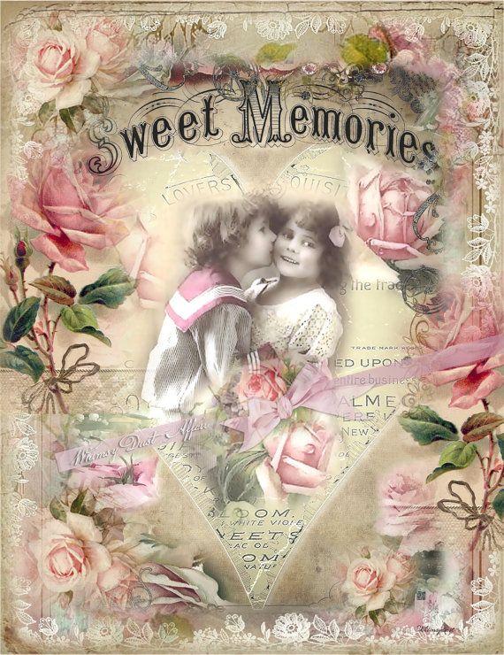Digital collage sheet vintage, instant download, Jewels 9 ...  cards backgrounds tags