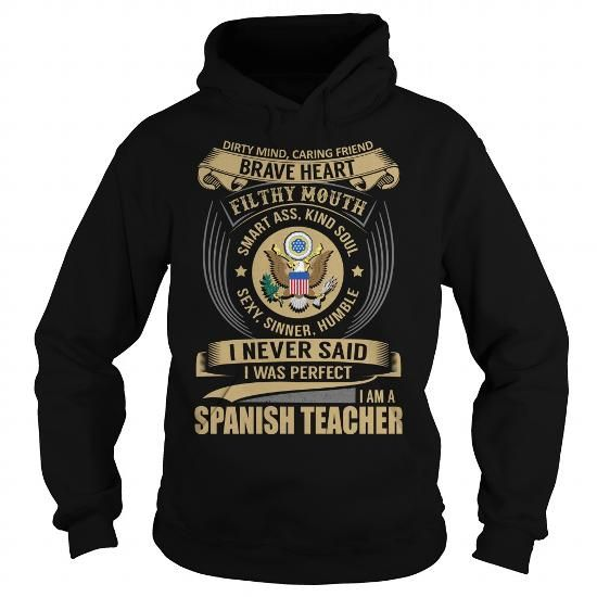 Spanish Teacher Job Title Special T Shirts, Hoodies. Get it now ==► https://www.sunfrog.com/Jobs/Spanish-Teacher--Job-Title-Special-Black-Hoodie.html?41382