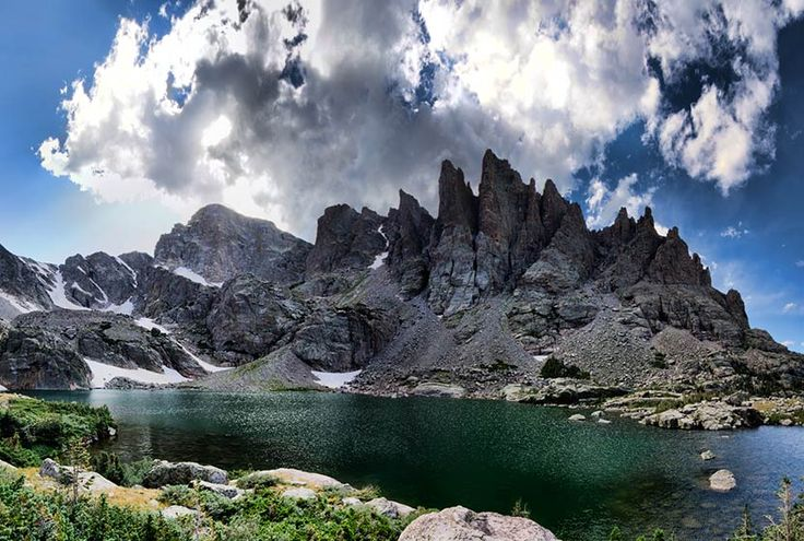 Sky Pond may be the most breathtaking lake hike in Rocky Mountain National Park. This demanding hike begins at the Glacier Gorge trailhead and takes you past at least three waterfalls. Explore our Sky Pond trail profile below for trail details, driving directions, maps, and more.