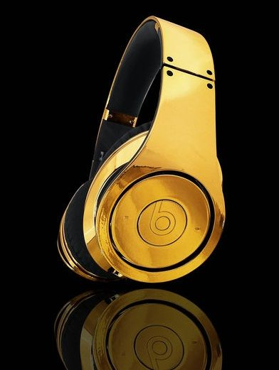 Beats, casque audio en OR 24 carats
