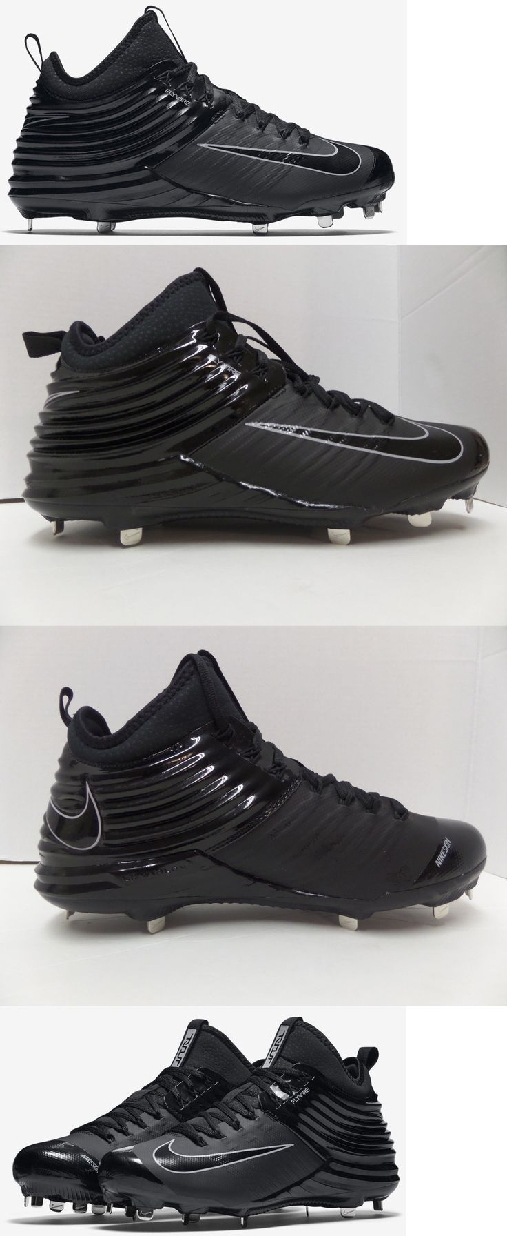 Mens 159059: New Nike Lunar Trout 2 Metal Baseball Cleats Black Black 807127-002 Size 8 -> BUY IT NOW ONLY: $32.9 on eBay!