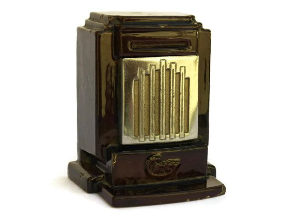 Antique Cast Iron Art Deco Coin Bank. French Enamel Industrial Money Box  sc 1 st  Pinterest & 22 best Vintage u0026 Antique Money Box images on Pinterest | Money ... Aboutintivar.Com