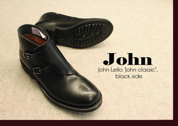 """John"" type classic by John Lello  www.johnlello.com/ www.instagram.com/john_lello/ www.facebook.com/pages/John-Lello/   #shoes #shoestyle #shoesdesign #design #details #leather #black #handcraft #handmade #madeinitaly"