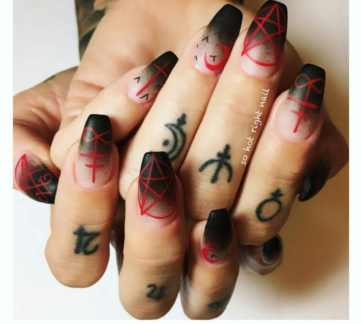 Scary Halloween black tip fade nails nail art ideas - Best 25+ Gothic Nails Ideas On Pinterest Gothic Nail Art, Goth
