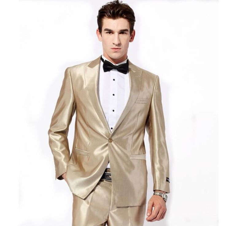 Slim One Button Tuxedos Best Mens Suits Groomsman Bridegroom Wedding Suit For Mens Jacket+Pants+Bow TieMen Blazer Dress Groom Suits Cheap Tuxedos Rentals Dinner Jackets For Men From Xfdress, $81.16| Dhgate.Com