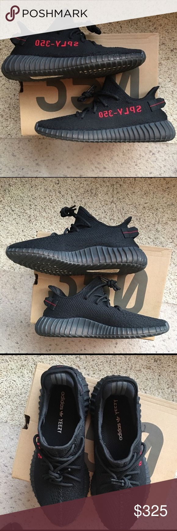 """Adidas yeezy boost 350 V2 """"bred"""" 100% authentic yeezys. They are used. Price has been lowered. Size 11. Will ship once payment is received. I only accept payments through square cash. Please text 678-640-3895 when you are ready to buy! adidas Shoes Sneakers"""