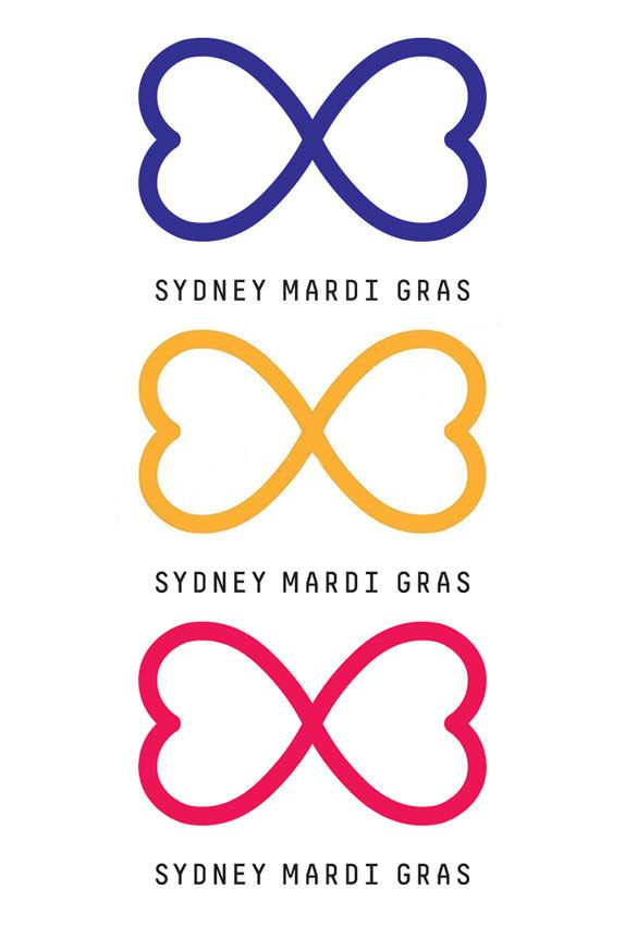 Sydney Mardi Gras heart infinity