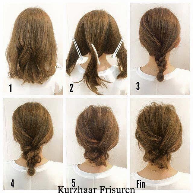 Modische Zopffrisur Fur Schulterlanges Haar Modische Schulterlanges Z Zopffrisuren Einfache Hochsteckfrisuren Fur Lange Haare Schulterlange Haare Frisuren