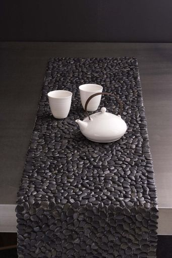 Beach Stone Table Runner / Tropical And Casual Beach Stone Home Decors And  Accessories / MikaElla