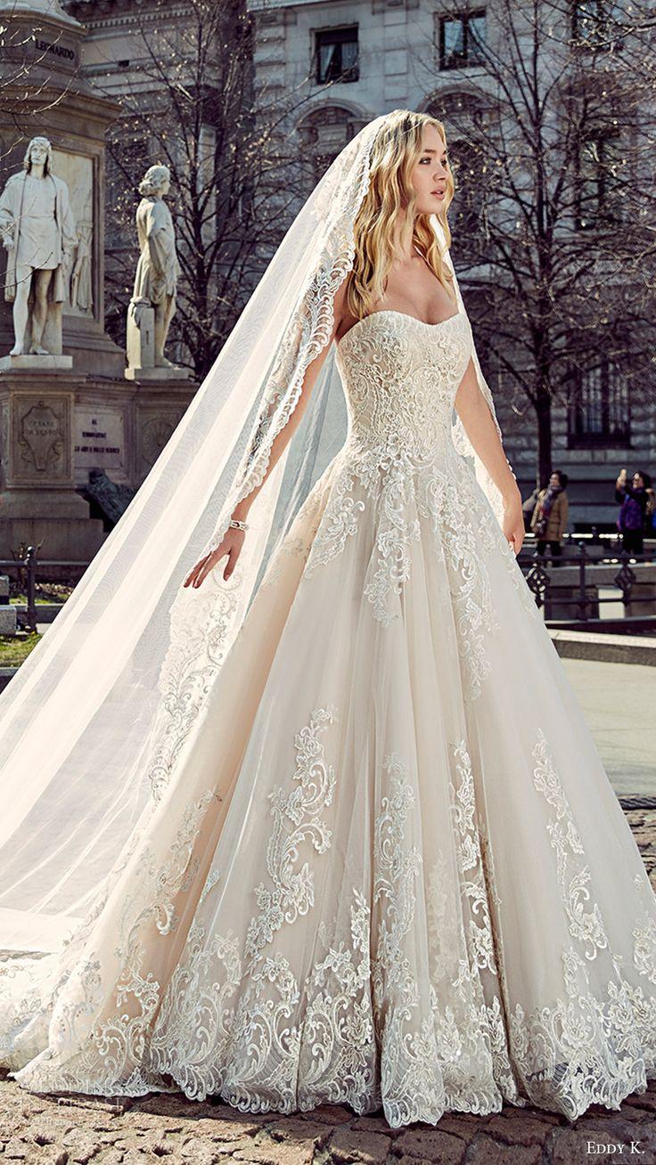 crystal design 2017 bridal three quarter sleeves deep v neck heavily embellished bodice elegant a  line wedding dress illusion back royal train (simona) zbv