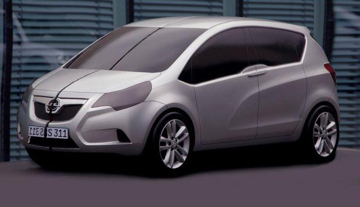 Og 2010 Opel Meriva B Scale Half Clay Model Car