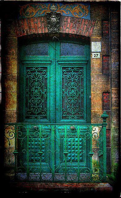 Honfleur, NormandyThe Doors, Green Doors, Blue Doors, Colors, Turquoise Doors, Front Doors, Beautiful Doors, Teal, Old Doors