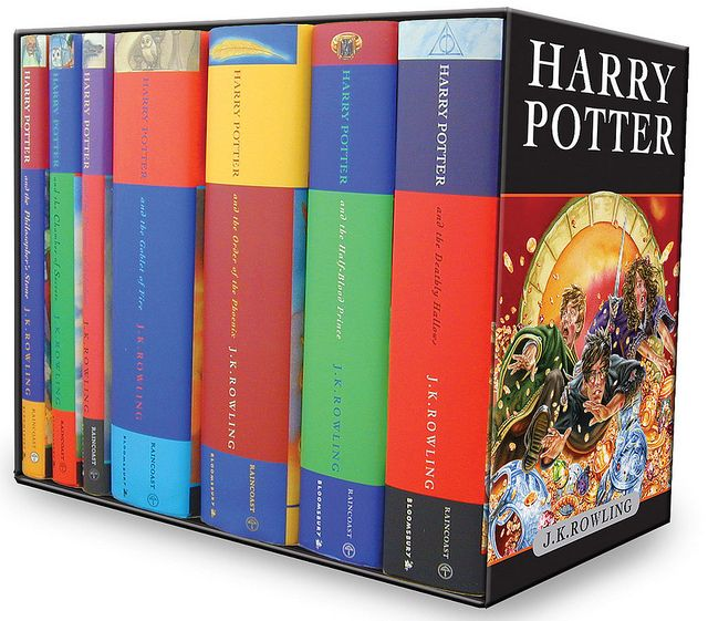 Harry Potter Box Set by Bloomsbury.  I already have this. In my future home, this will be the the special Harry Potter section of the library. Hopefully, there will be a glass case involved.