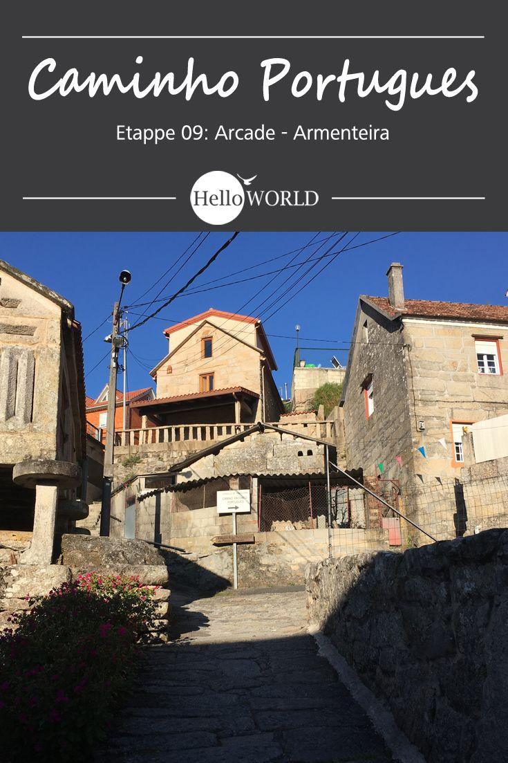 Etappe 9 . Arcade > Armenteira: Jakobsweg / Caminho Portugues / Camino Portugues; Porto (Portugal) > Santiago de Compostela (Spanien)
