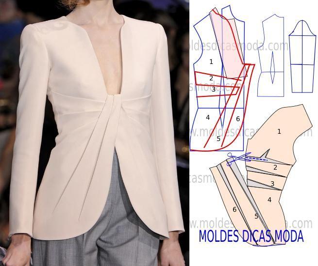 Modelo decasaco com pregassugerido por algumas seguidoras. Este casaco tem um corte elegante e arrojado.