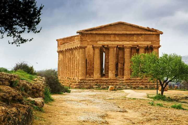 Agrigento, Italy, Ancient Greek Temple of Omonoia