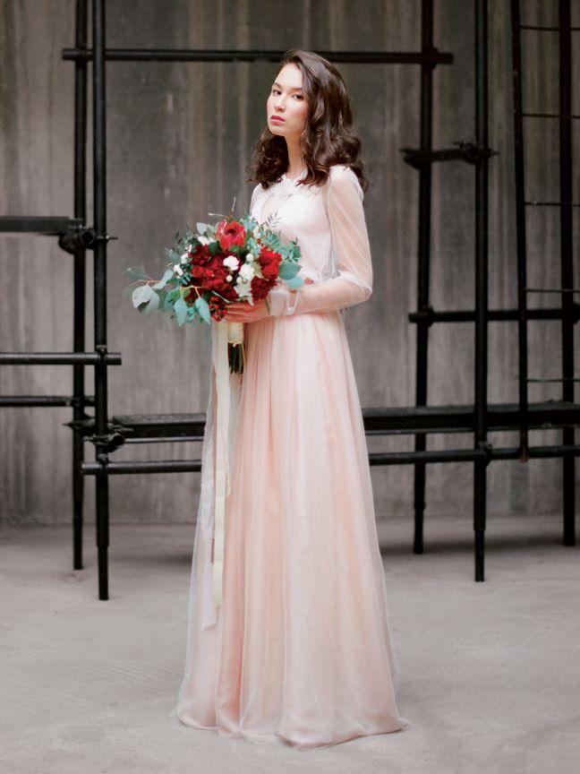 Розовое свадебное платье Иванна (бренд Миламира)
