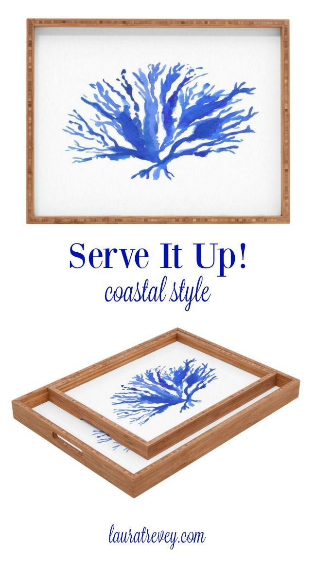 Coastal Living Decor - Serve it up, coastal style that is! Stylish rectangular trays in two different sizes to suit your needs.