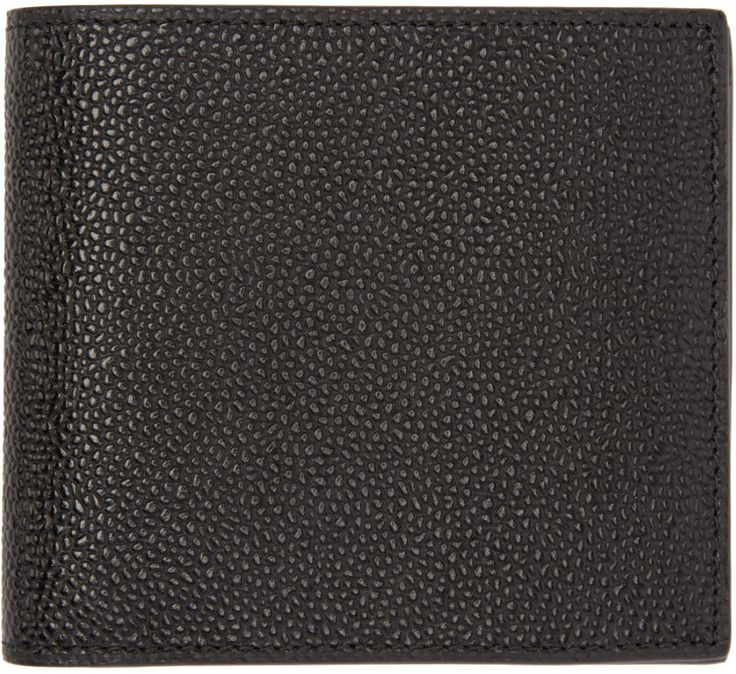 Thom Browne - Black Leather Wallet