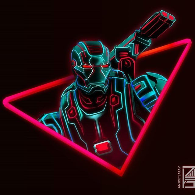 War Machine Neon Wallpaper Credit At Aniketjatav On Instagram