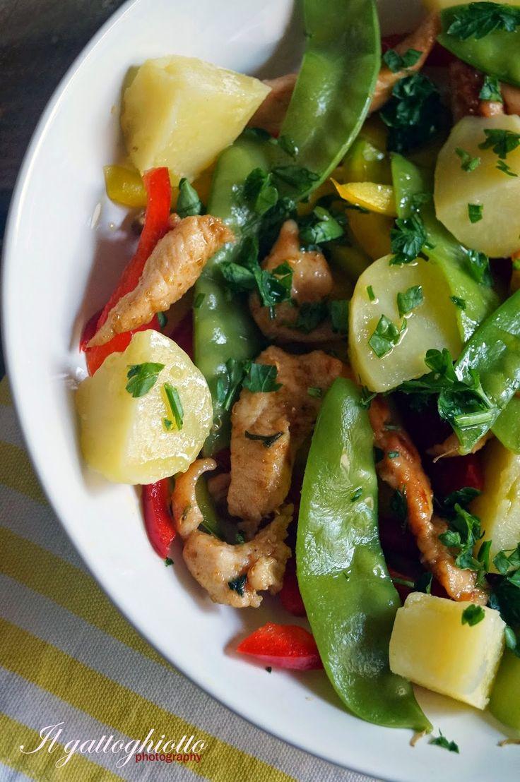 Insalata piccantina di pollo e patate