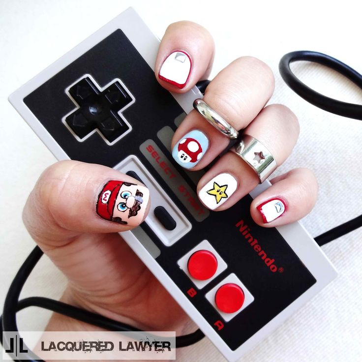 133 best gamer nail art images on pinterest minecraft nails lacquered lawyer nail art blog super mario brothers prinsesfo Images