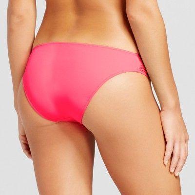 Women's Beach Hipster Bikini Bottom - Coral Rose - XS - Shade & Shore