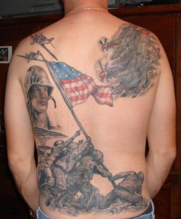 Tattoo Designs Us: 25 Awesome American Flag Tattoo Designs