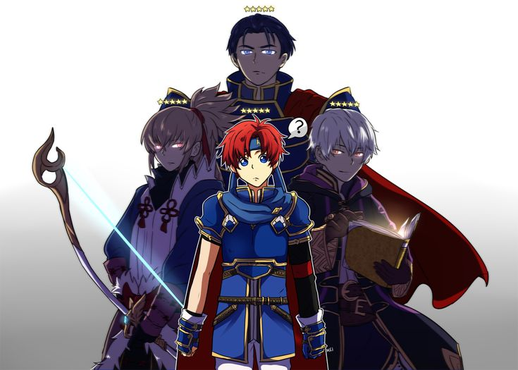 My Fire Emblem Heroes Team! ★★★★★ I put Roy as my leader because I'm an asshole to people in Arena
