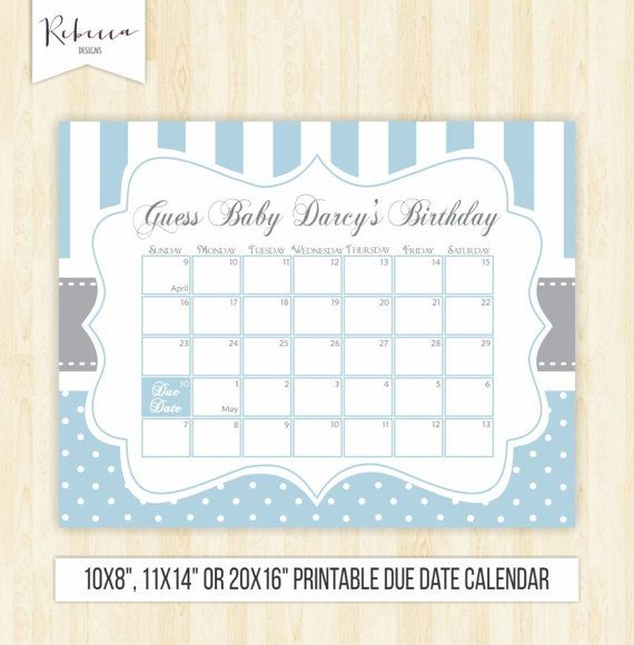 Guess The Birth Date Baby Shower Game: The 25+ Best Due Date Calendar Ideas On Pinterest