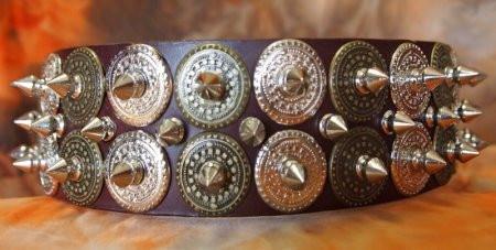 Custom Leather Dog Collar with Studs