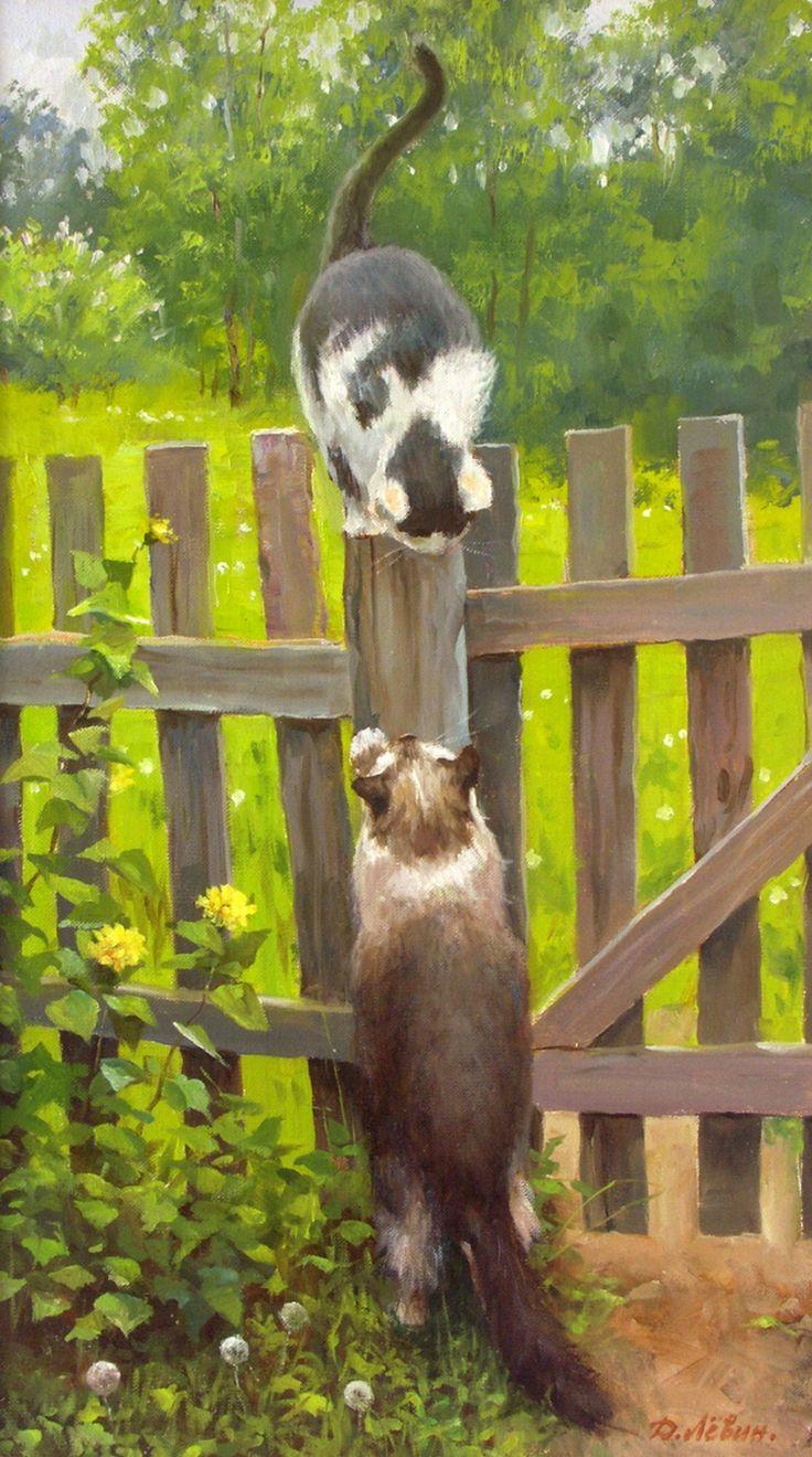 Вдали от суеты: деревенская живопись Дмитрия Лёвина 16