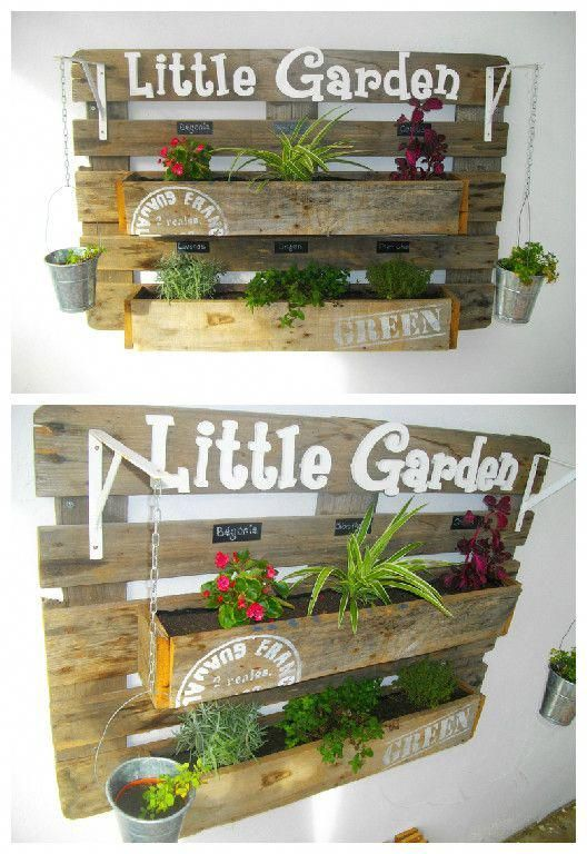 Upcycled Pallet Wall Planter #Herb #Planter #Upcyc…