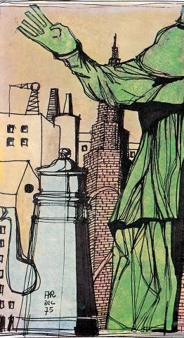 Aldo Rossi deawing cupola