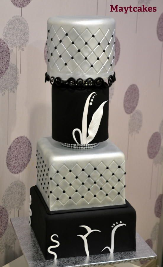 Wedding in silver - Cake by Maytcakes