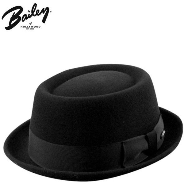 Bailey Hats Bailey Darron Trilby Pork Pie Hat - Black ($55) ❤ liked on Polyvore featuring accessories, hats, black, headwear, bailey hats, trilby hat, brimmed hat, porkpie hat and crown hat