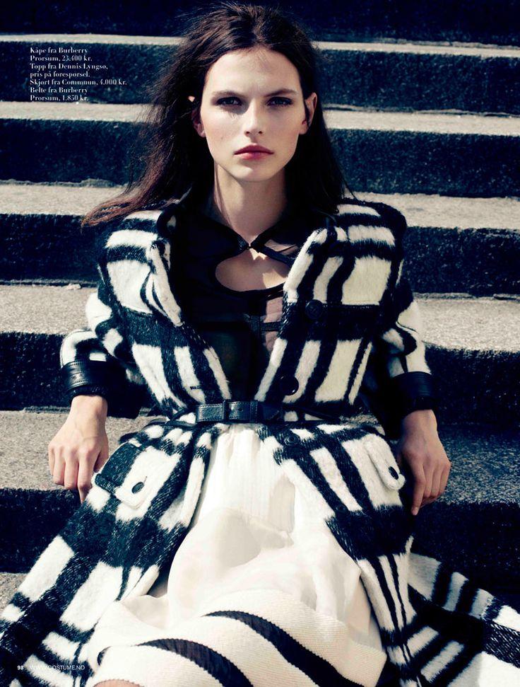 Deconstructed stripes.Plaid Coats, Black N White, Fashion, Coats Style, Black White, Burberry Prorsum, Jørgen Gomnæ, Karlina Caune, Costumes Norway