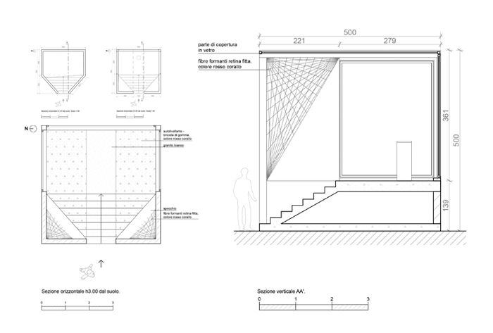 Floor plans. Section.