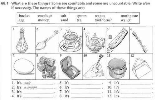 countable nouns - ESL/ELL