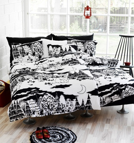 Moomins are not just for kids - these black sheets from Finlayson are pretty cool :)