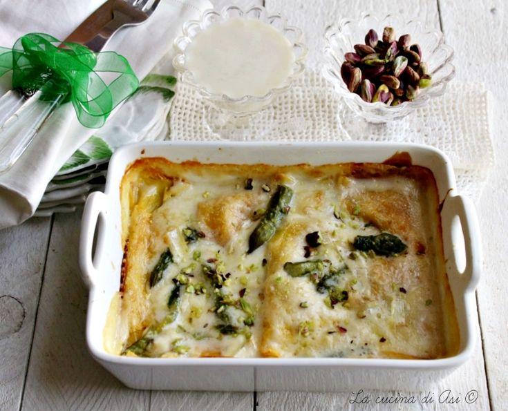 Involtini di crespelle con crema di asparagi un primo piatto al forno cremoso e delicato ricetta involtini di crespelle con crema di asparagi