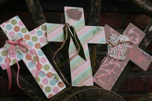 Scrapbook Paper Cross...so cute for Easter
