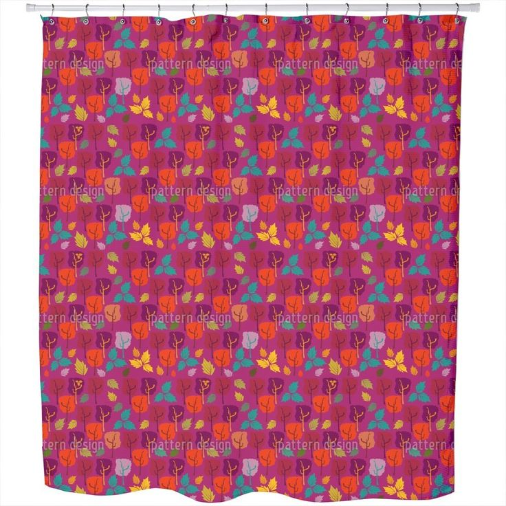 Uneekee When The Leaves Fall Shower Curtain