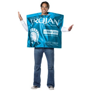 Trojan Condom Wrapper Costume now featured on Fab.